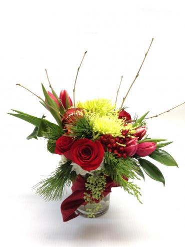 Red Moire Bouquet