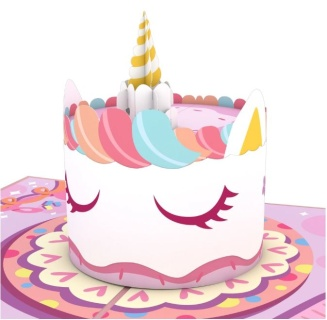 Unicorn Cake LovePop card