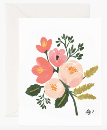 Peony Pink Floral Card