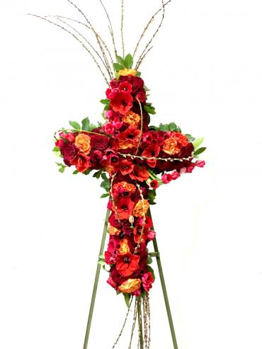 Crimson Tribute Cross