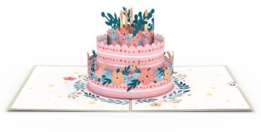 Floral Birthday Cake LovePop Card