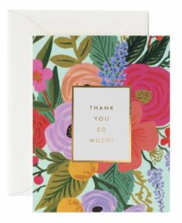 Garden Party Thank You Card