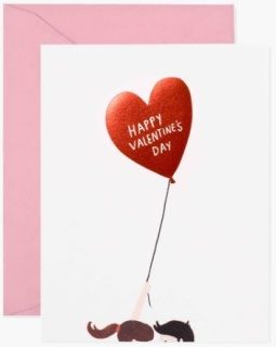 Balloon Valentine\'s Day Card