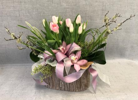Tulips in Spring Bouquet