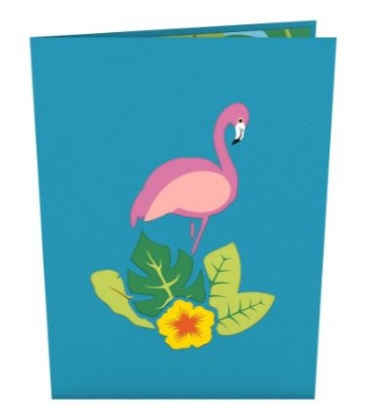 Flamingo LovePop Card